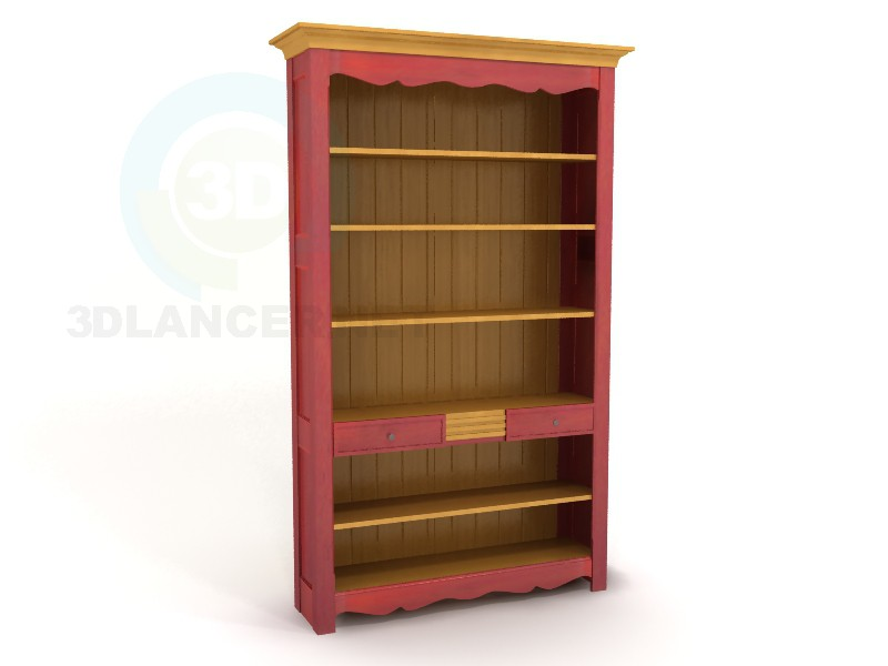 3d model Bookcase Grunge - preview