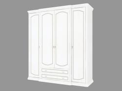 4-door wardrobe with drawers (2124x2330x685)