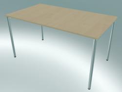 Table rectangulaire avec pieds ronds (1400x800mm)