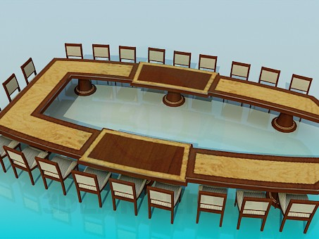 3d modeling A table for meetings model free download