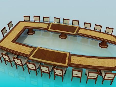 3d моделирование Стол для совещаний модель скачать бесплатно