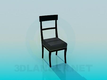 3d моделювання Стілець з м'яким сидінням модель завантажити безкоштовно