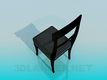 3d модель Стілець з м'яким сидінням – превью