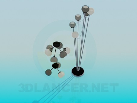 modelo 3D Un conjunto de lámparas - escuchar