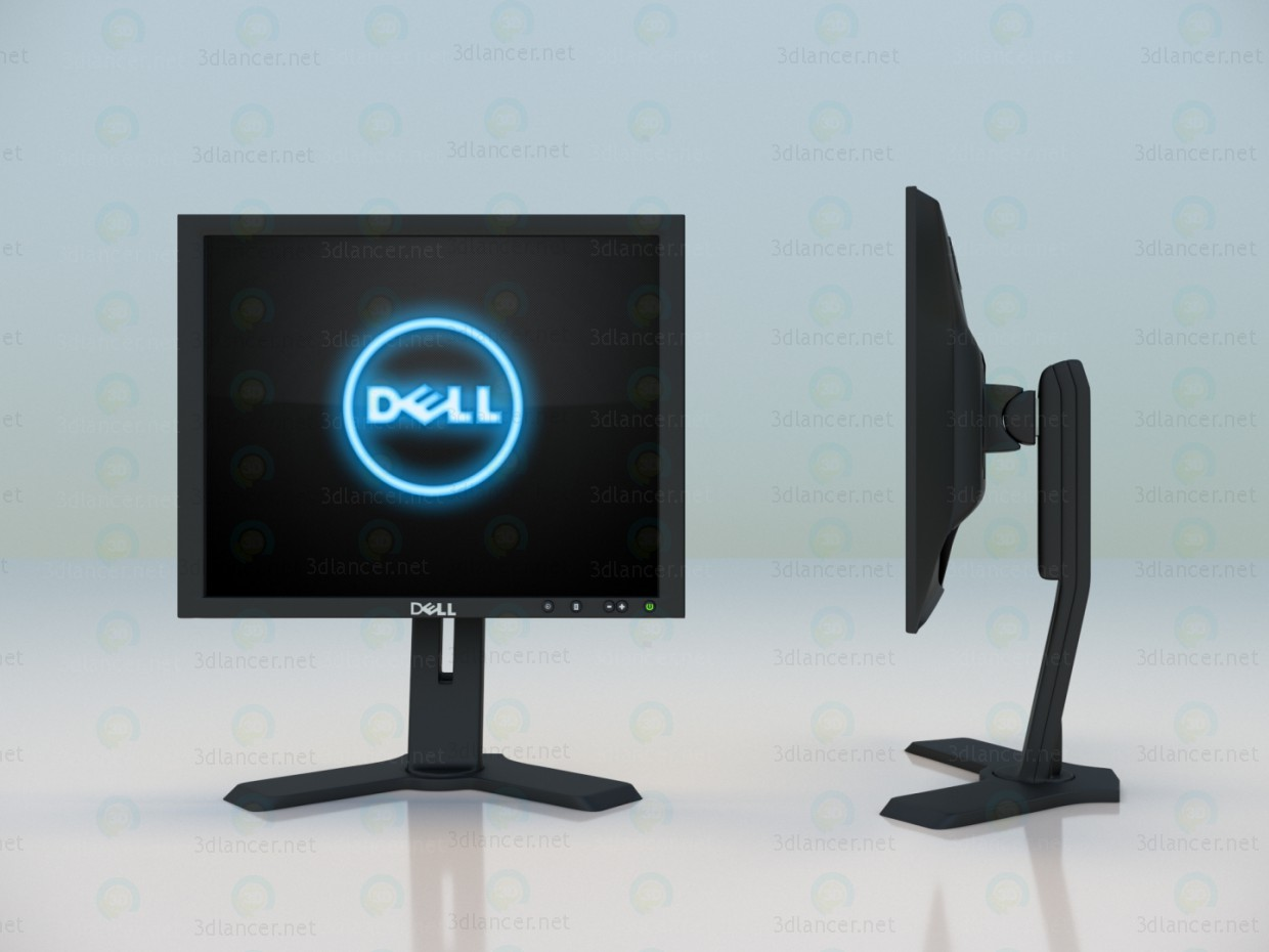 3d model Supervisar DELL P190ST - vista previa
