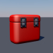 3d model Metal chest - preview