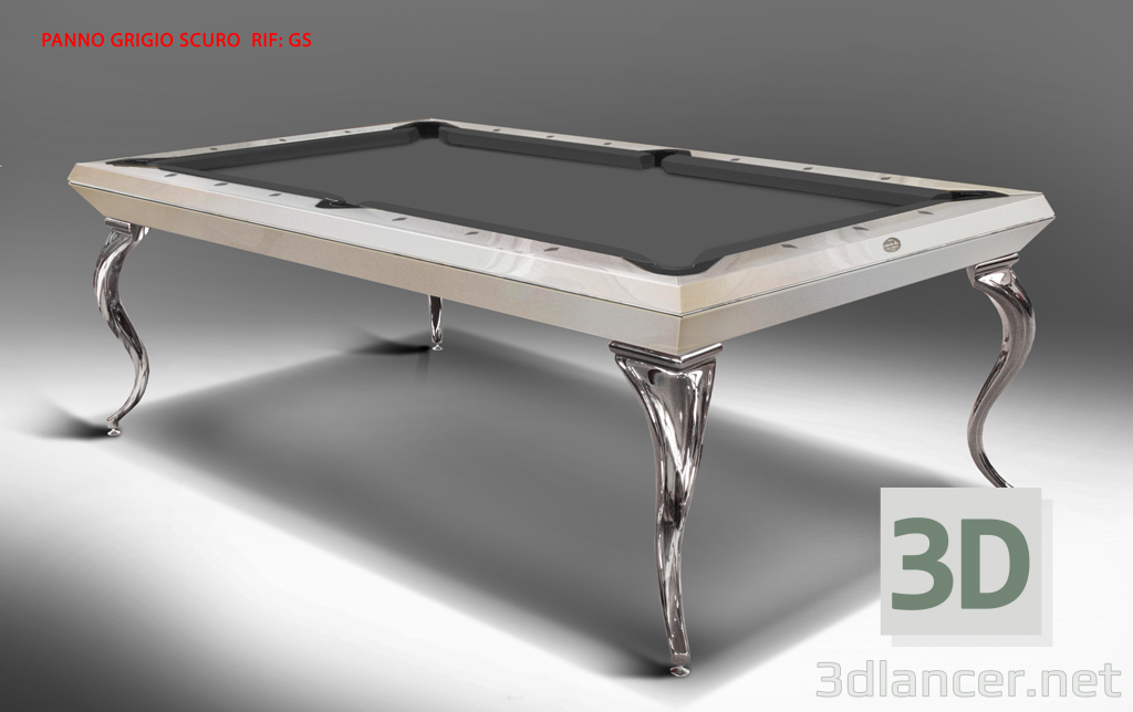 3d model EXCLUSIVE POOL TABLE CAVICCHI OPERA BILLIARD 8ft - preview