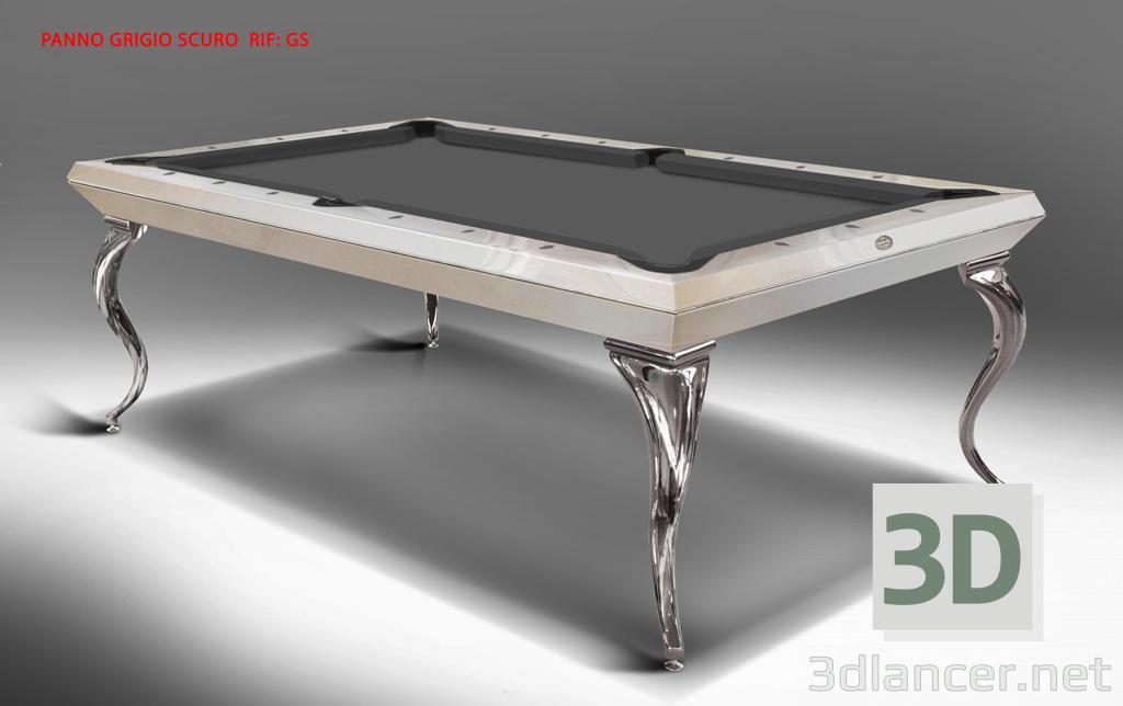 3d model EXCLUSIVE POOL TABLE CAVICCHI OPERA BILLIARD 8ft - preview