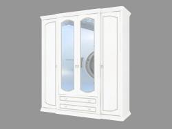 Шафа 4-х дверний з дзеркалами і ящиками (2124х2330х685)