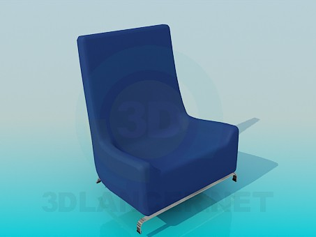 3d model Low armchair - preview