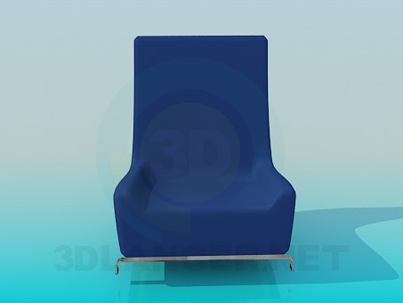 modelo 3D Sillón bajo - escuchar