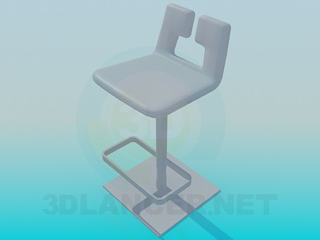 3d модель Стілець для барної стійки – превью