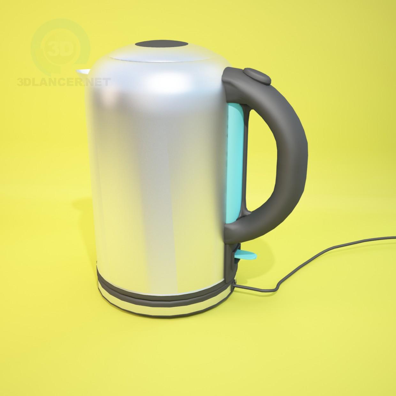 modelo 3D Hervidor de agua - escuchar