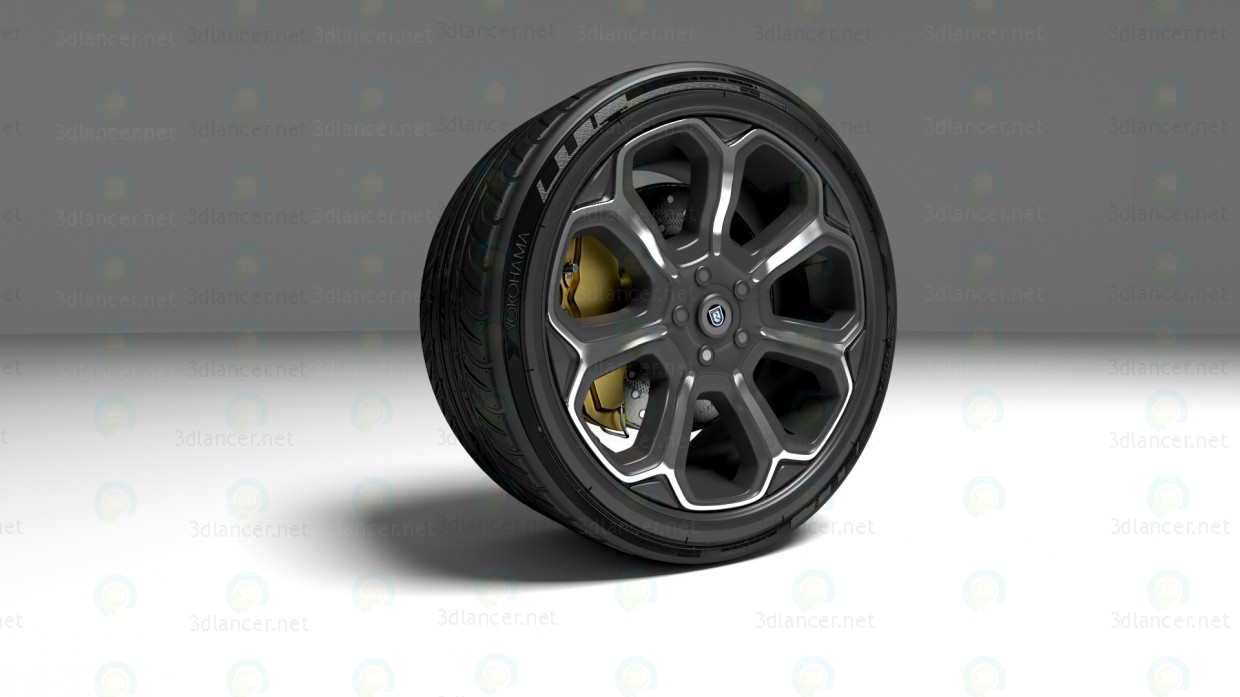 3d The wheel of the sports car model buy - render