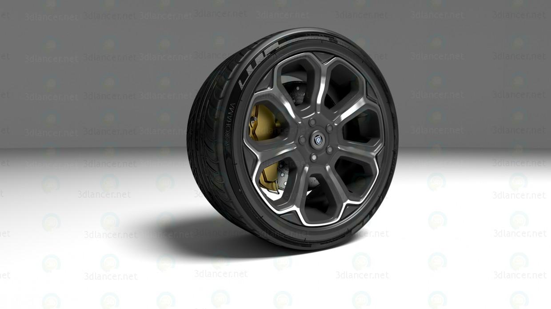 3d Колесо от спорткара модель купить - ракурс