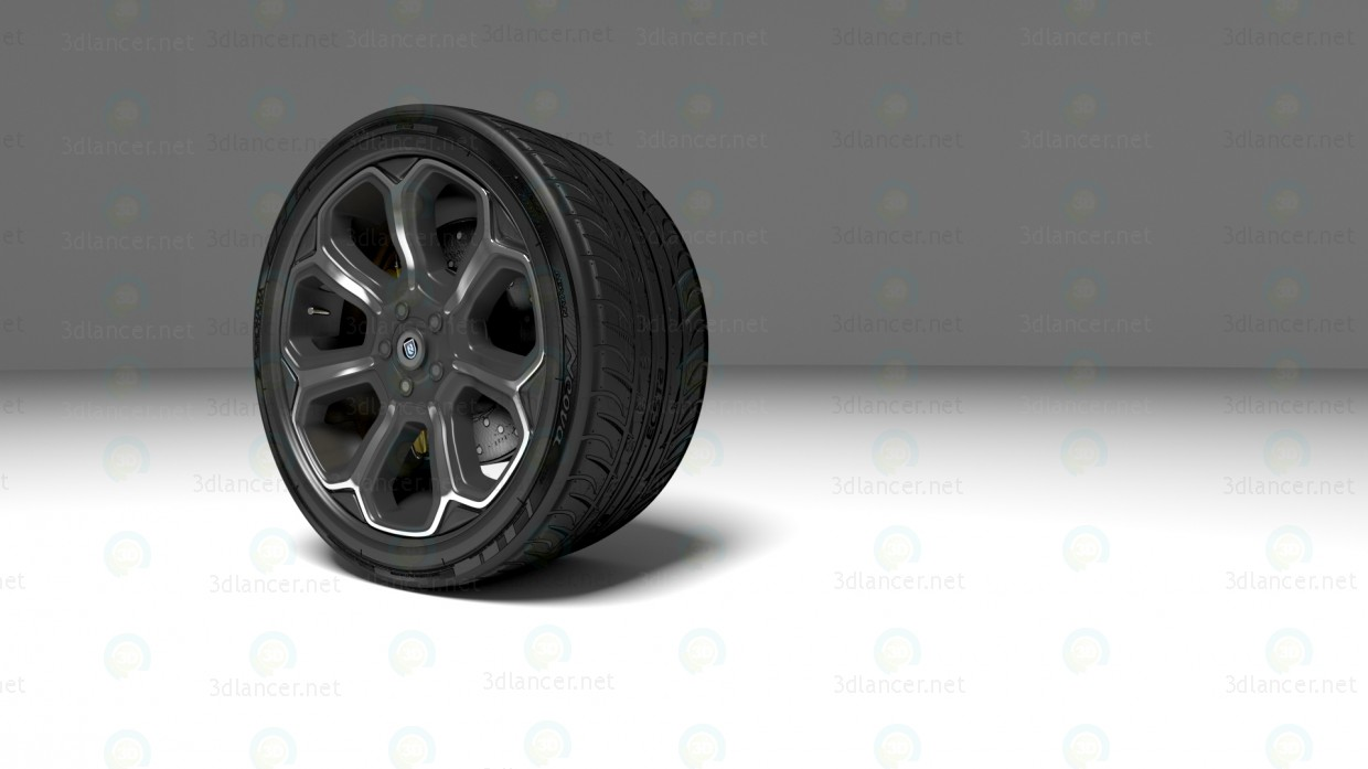 The wheel of the sports car paid 3d model by samsonvegass93 preview