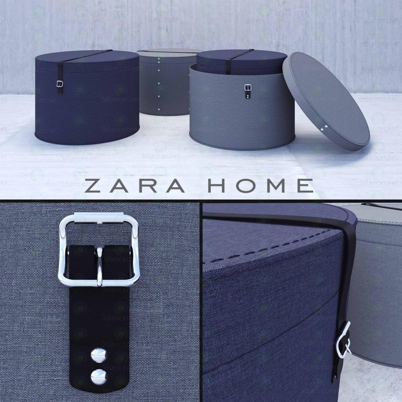 Modelo 3d Zara Home caixa redonda - preview