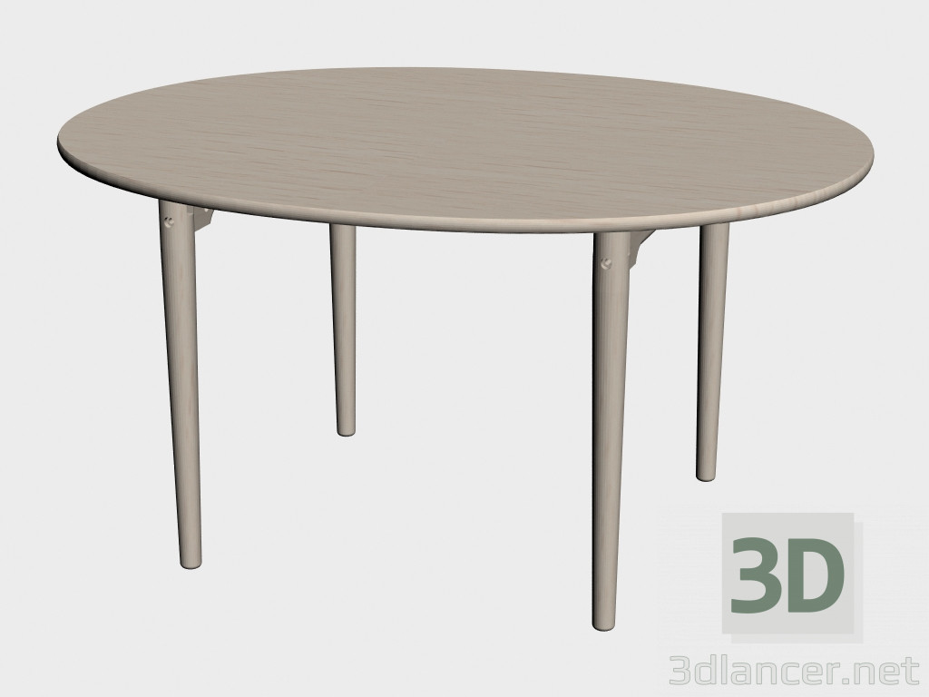 3d model dining table ch337 manufacturer carl hansen id for Dining table models