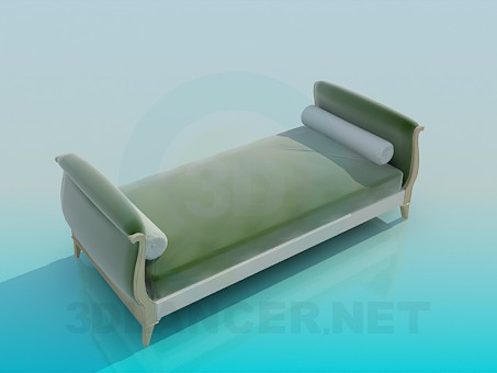 3d modeling Couch with rollers model free download