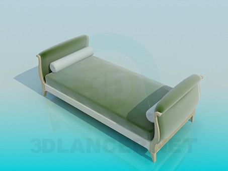 3d model Couch with rollers - preview