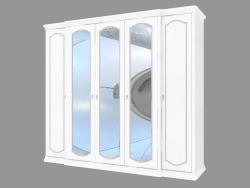 Шкаф 5-ти дверный с зеркалами (2643х2333х685)