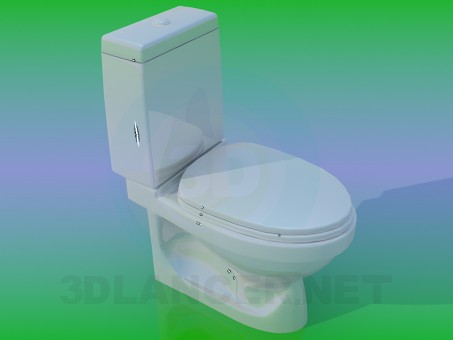 3d model WC - preview