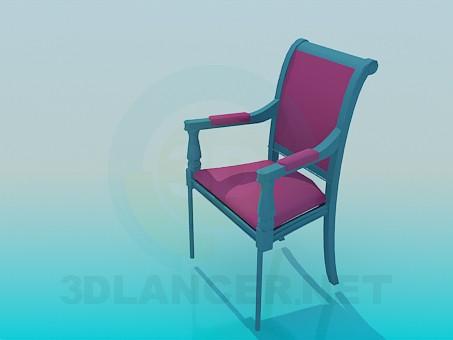 modelo 3D Silla de estilo clásico - escuchar