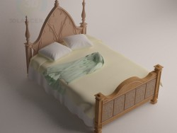 Bed in Gothic style