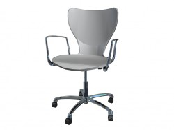 Office Chair with armrests made of polyamide