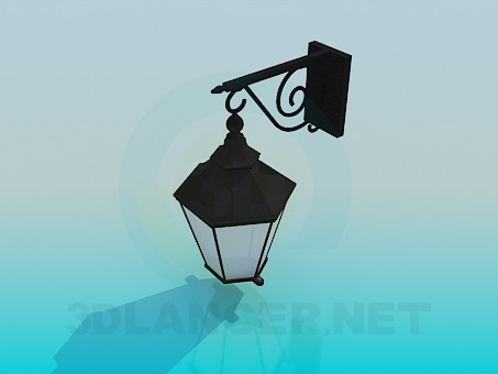 3d modeling lantern sreet model free download