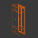 3d Two-winged classic wardrobe model buy - render