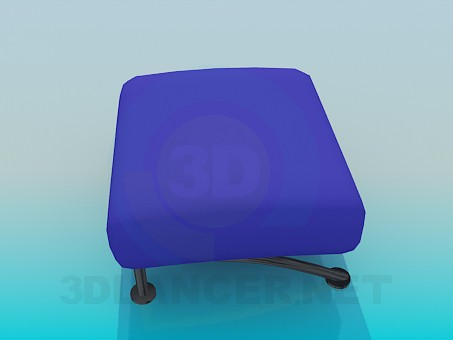 3d model Ottoman on low legs - preview
