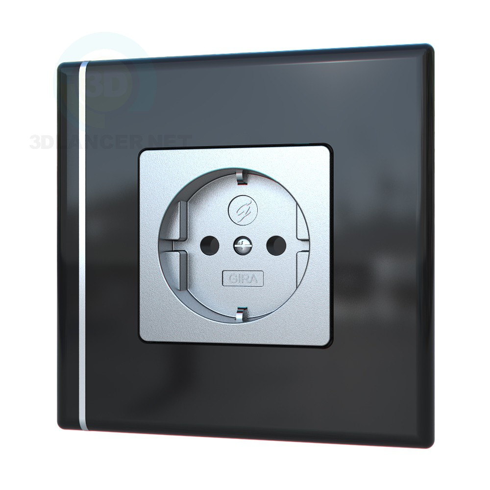 3d modeling Socket GIRA model free download