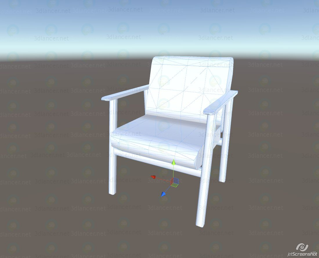 3d model Low poly chair - preview