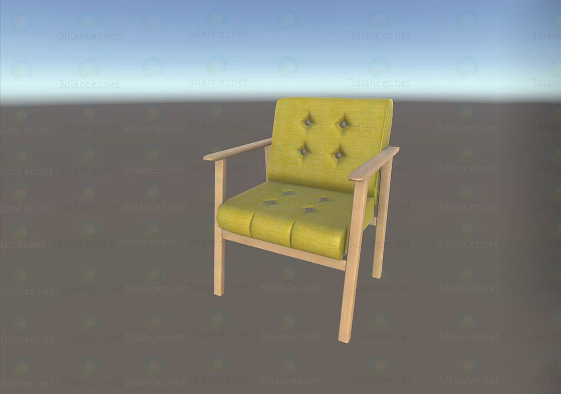 3d модель Низький стілець – превью