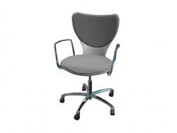 Office chair polyamide upholstered in fabric with arms