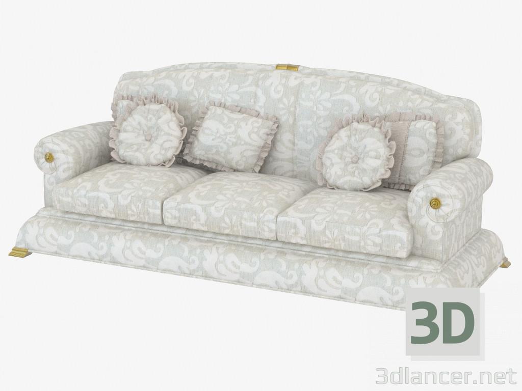 Modelo 3d sof triple cl sico t448 del fabricante turri for Muebles capitol