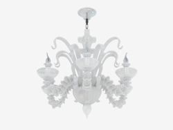 Chandelier made of glass (S110188 6white)