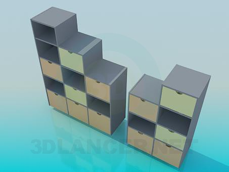 3d model Cupboard with drawers - preview