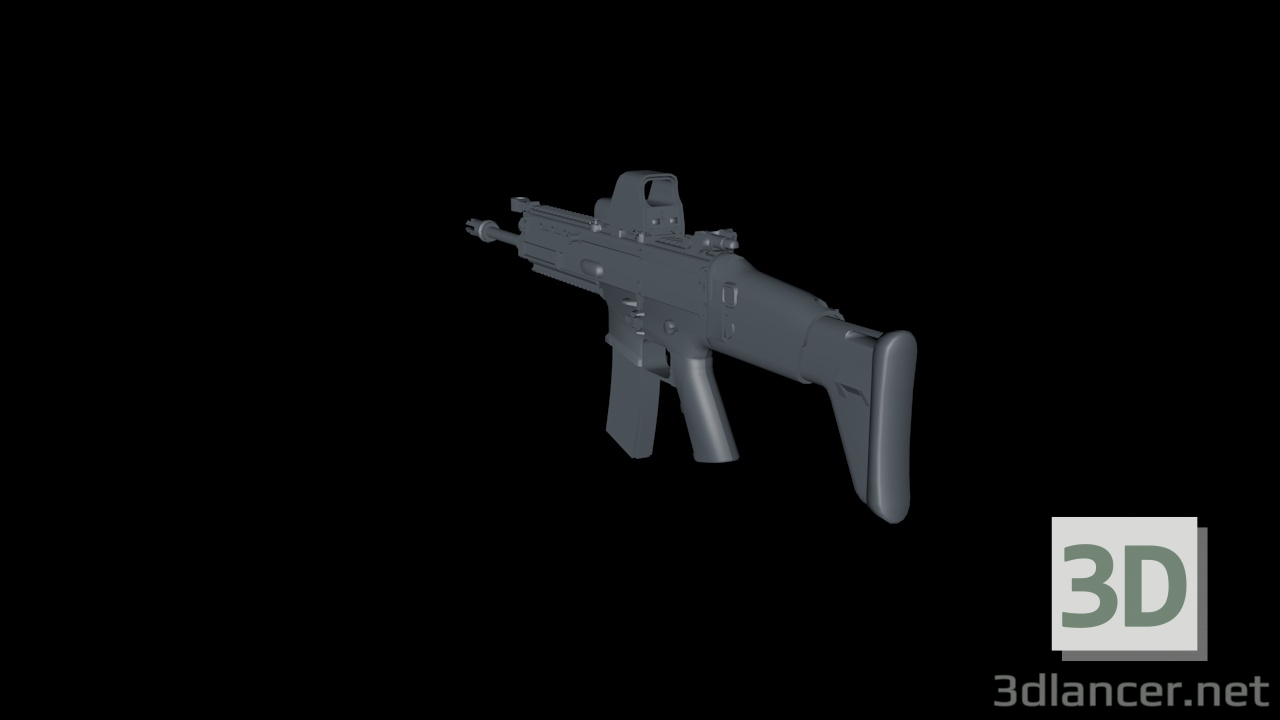 3d MK16 (Without texture) model buy - render