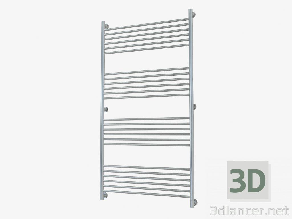 3d model Heated towel rail Bohemia straight line (1500x800) - preview