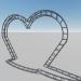 3d Heart shaped arch model buy - render