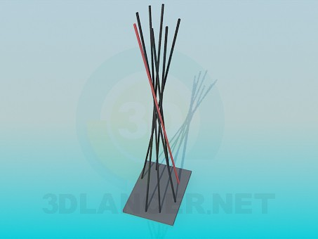 3d model Twisted sticks - preview