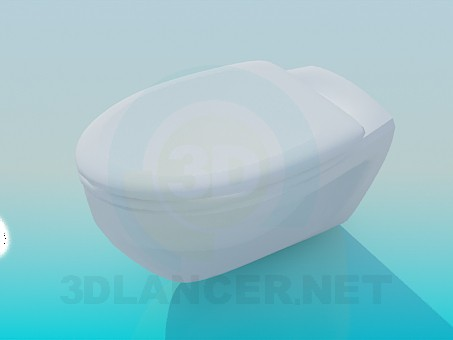 3d model Toilet bowl without leg - preview