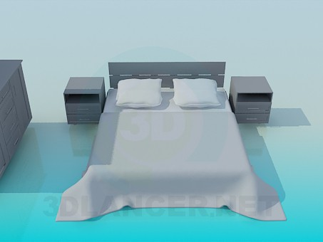 3d модель Меблі для спальні – превью