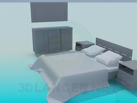 3d модель Мебель для спальни – превью