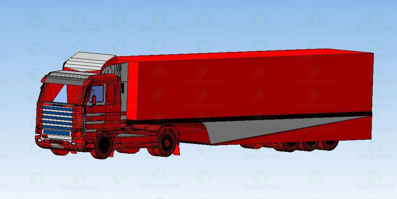 descarga gratuita de 3D modelado modelo Van Scania