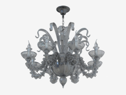 Chandelier made of glass (S110188 8black)