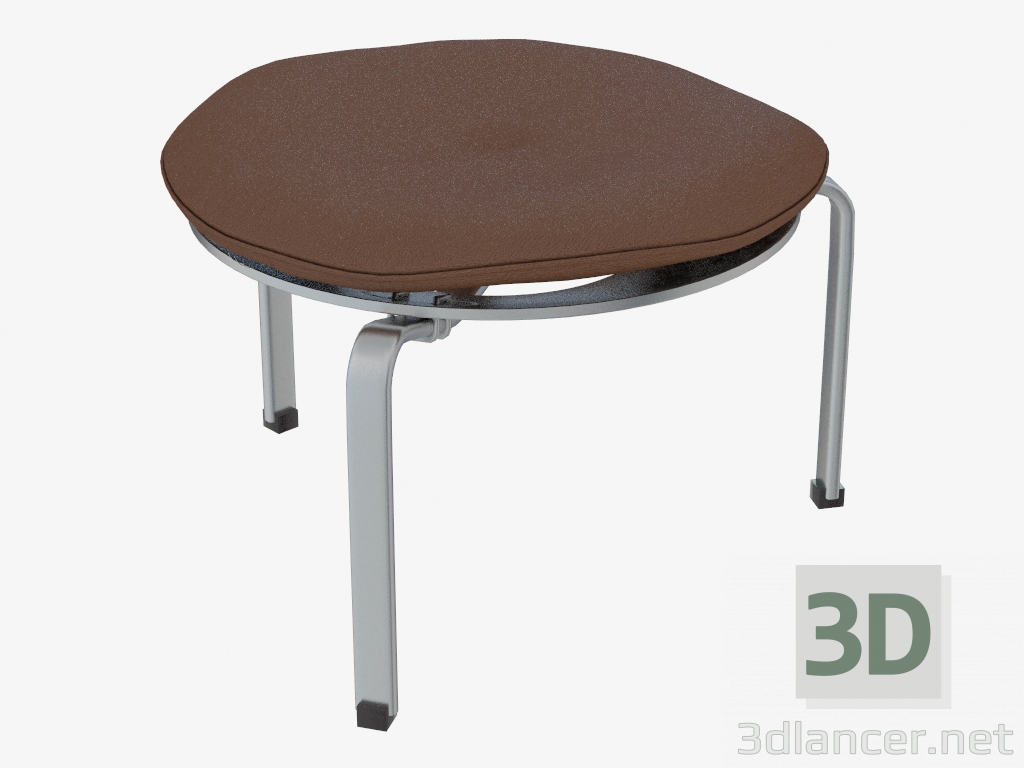 3d Model Three Legged Stool With Leather Cushion Pk33