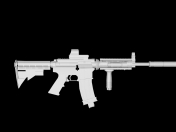 Model of assault rifle M4A1